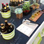 Beer tasting birthday party-love the chalkboard table!