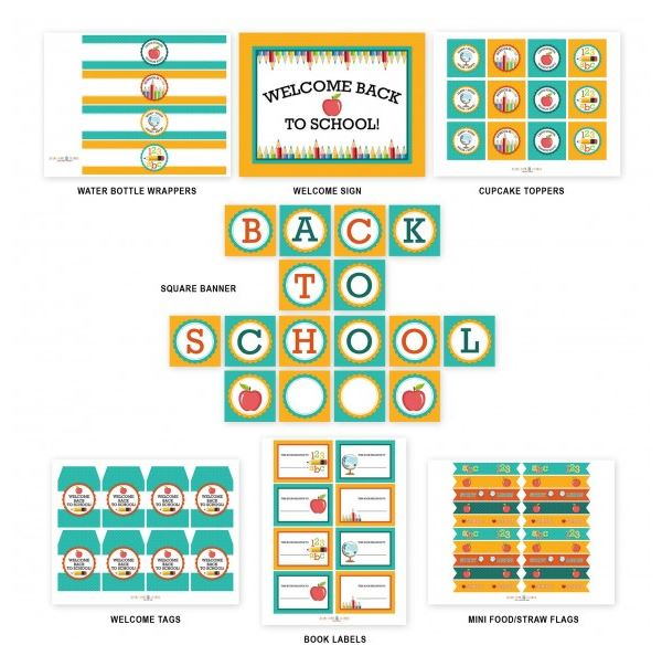Back To School Free Printables - B Lovely Events - free printable welcome back sign