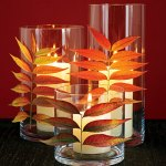 DIY Leaf Votive Candles