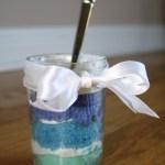 Blue Ombre Cupcake Jars