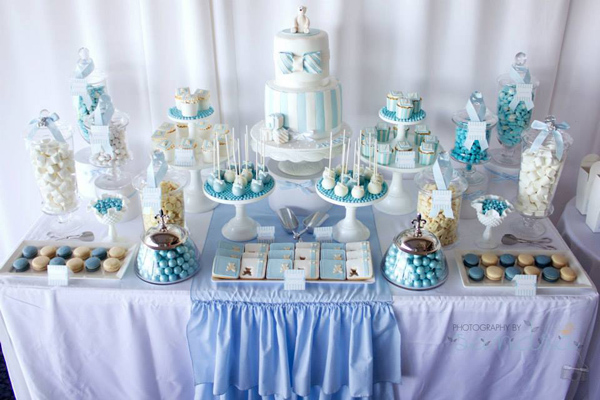 Shades of Blue Party For A Bar Mitzvah