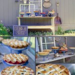 Love this country style pie station