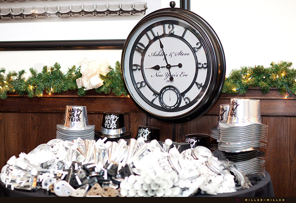 Just wait until the clock strikes midnight b lovely events for Table 52 new years eve