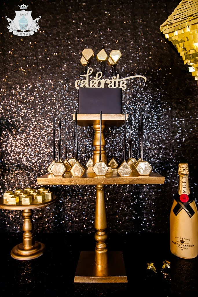 Gold Sparkly New Years Party