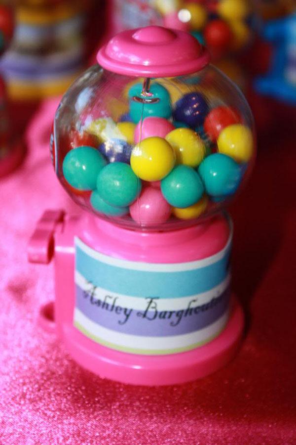 mini bubble gum machine favors