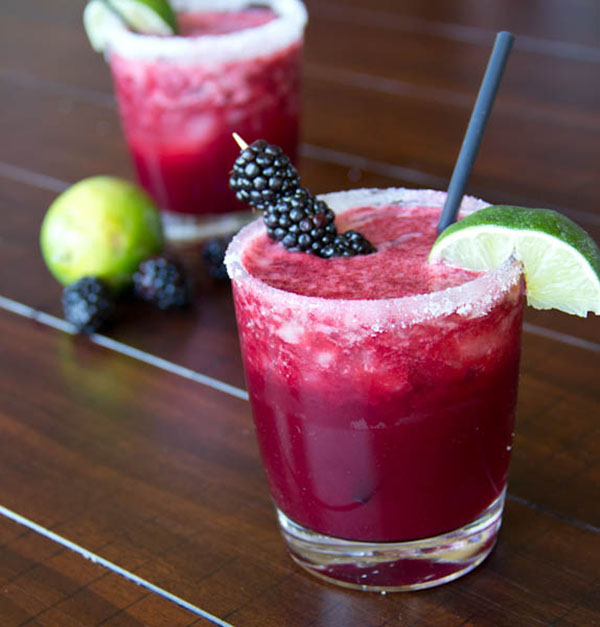 Check out these amazing Blackberry margaritas!
