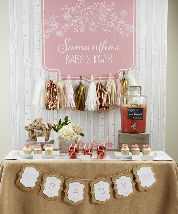 Glam Fall Background Wallpaper Super Cute Rustic Baby Shower B Lovely Events