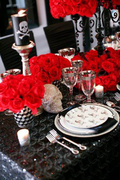 skeleton and skull party ideas b lovely events. Black Bedroom Furniture Sets. Home Design Ideas