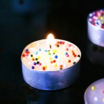 Fun Sprinkle candles for A sprinkle party!