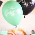 New Years Resolution Balloons with words