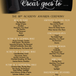 88th Annual 2016  Oscar Ballot Free Printable!