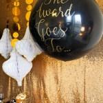 Black and gold Oscar Party- Oscar Balloons!