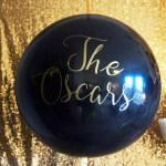 Black and gold Oscar Party- Oscar Party Balloon