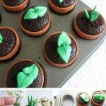 Potted Plant Cupcakes For Earth Day! -See More Earth Day Desserts Ideas At B. Lovely Events
