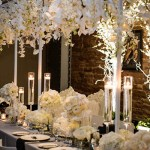 Lovely White Orchid Wedding Head Table- B. Lovely Events