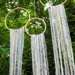 Kids Campout Dreamcatchers- See how to make them on B. Lovely Events