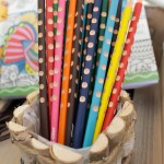 Wood Groove Colored Pencils - See More Lovely Kid's Camp Out Ideas on B. Lovely Events