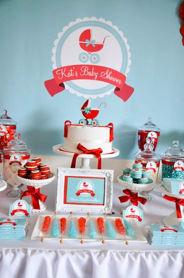 Red and Blue Baby shower ideas