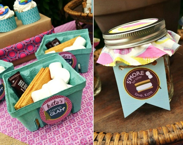 bridal shower glamping food ideas