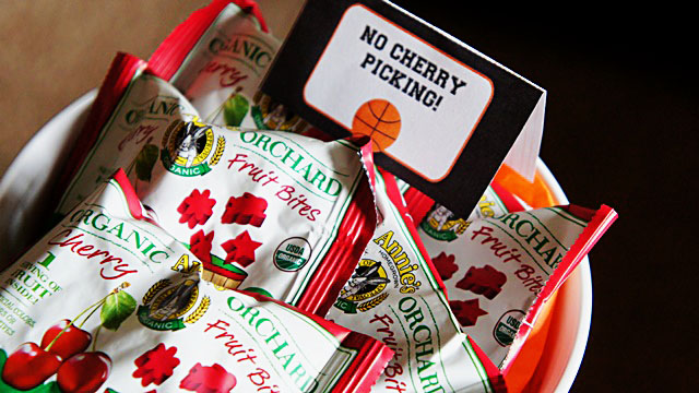 No Cherry Picking! March madness basketball party- B. Lovely Events
