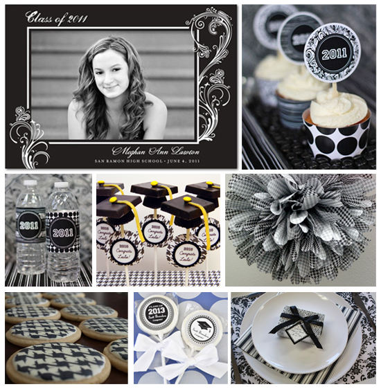Black and white graduation ideas