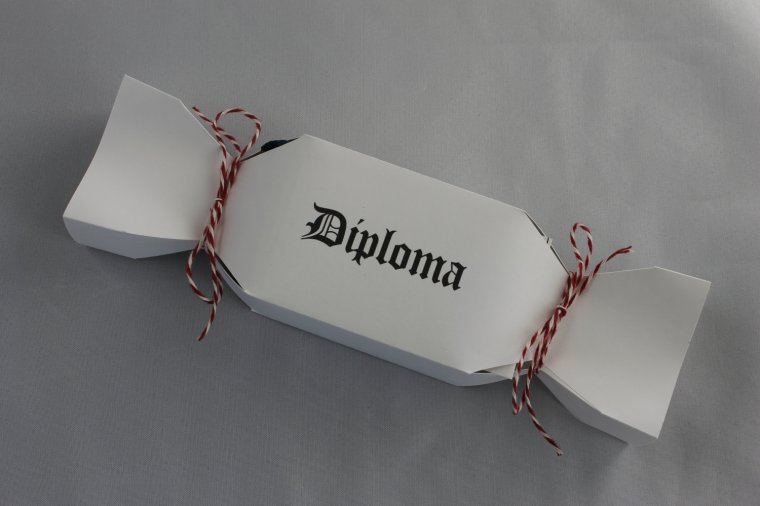 graduation diploma favor boxes
