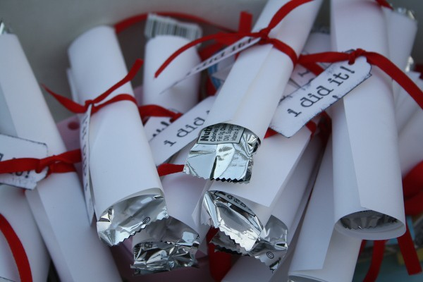 Graduation diploma favors