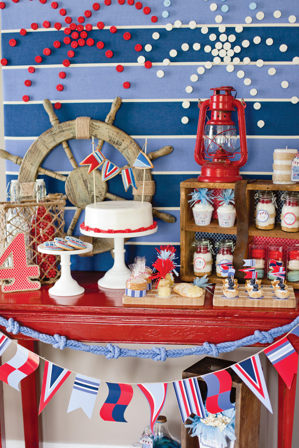 nautical party with red white and blue