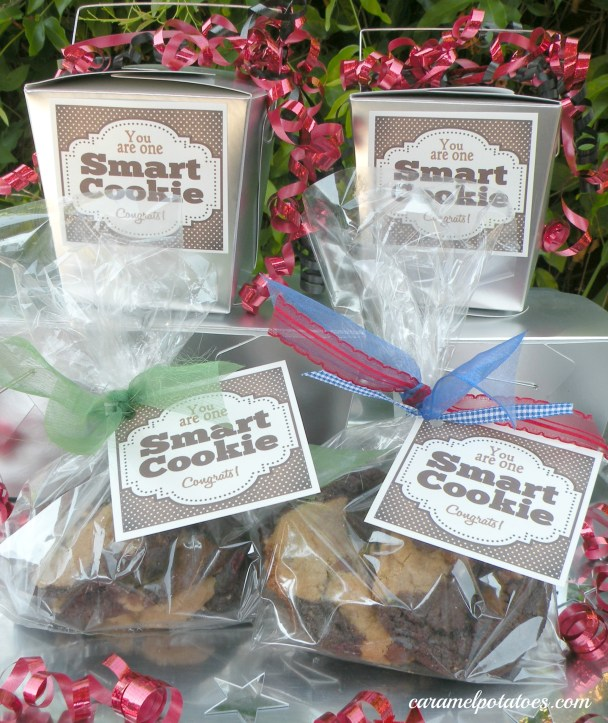 Smart cookie favor boxes for grad party