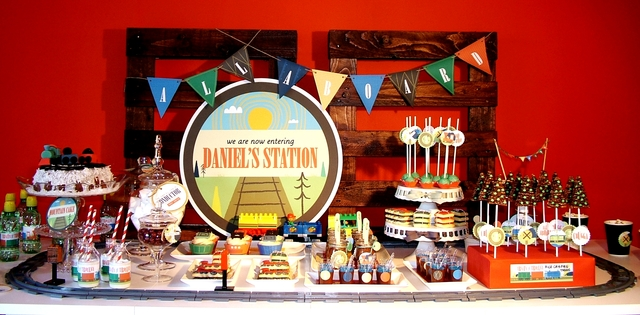Vintage train party-perfect for a boys birthday