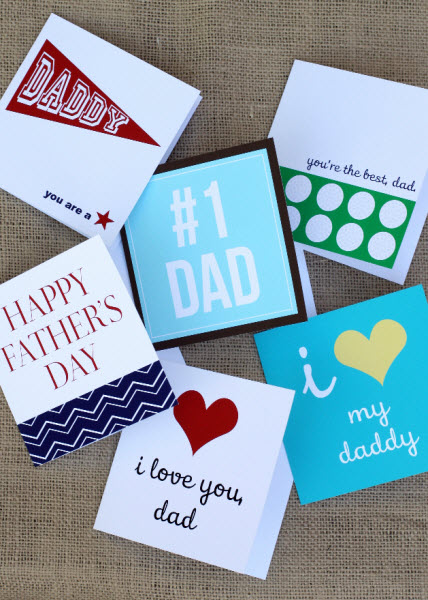 Lovely Father\u0027s Day Free Printable Cards!- B Lovely Events