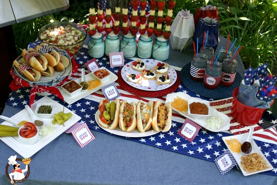 Hot dog bar ideas for summer bbq