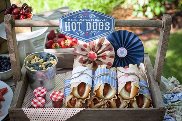 Hot Dog wraps for Summer BBQ