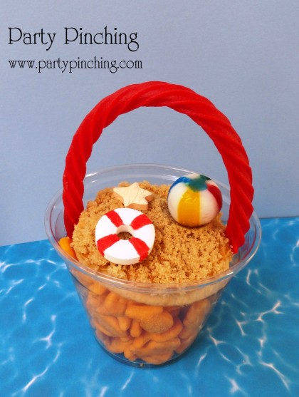 little sand beach cups-great for a pool and beach party