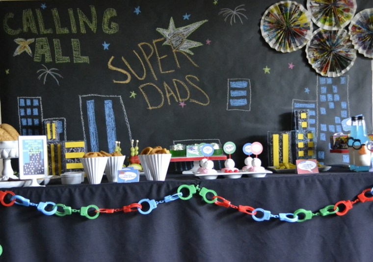 Super Dad Father's Day party table