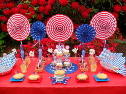 4th of July party pinching table ideas!