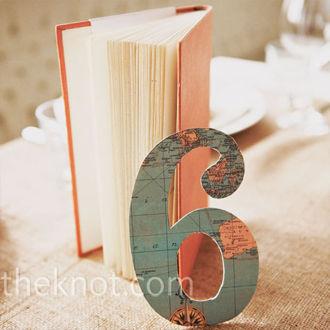 Map travel wedding table numbers