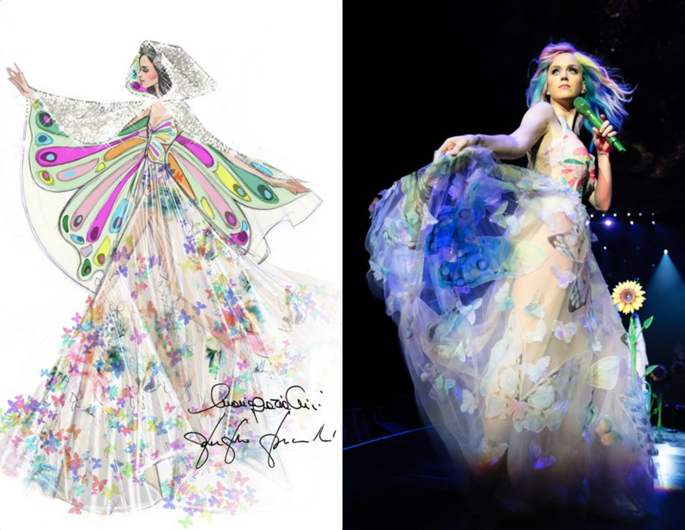 Dsign Valentino Valentino Designs Katy Perry Dress Blow Presents