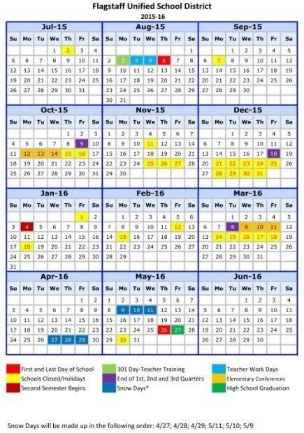FUSD adopts 2015-16 calendar Education azdailysun