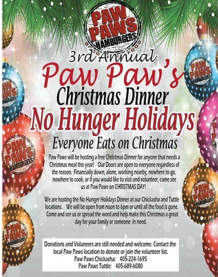 Paw Paw\u0027s to provide free Christmas meal in Chickasha, Tuttle - christmas luncheon flyer