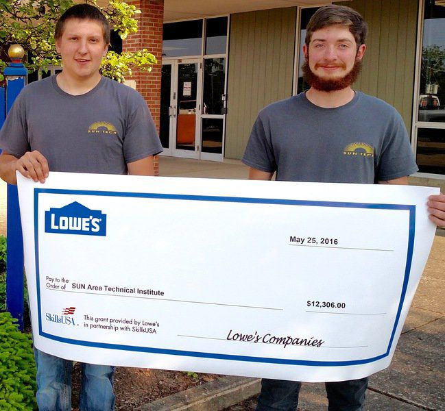 SkillsUSA chapter receives $12G Lowe\u0027s grant for community service