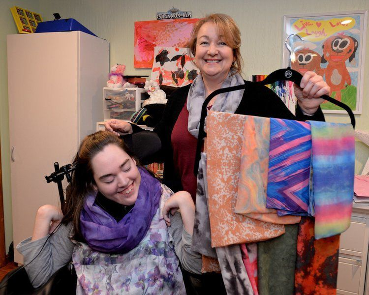 Cerebral palsy can\u0027t keep Haverhill woman from running scarf - ma cerebral palsy
