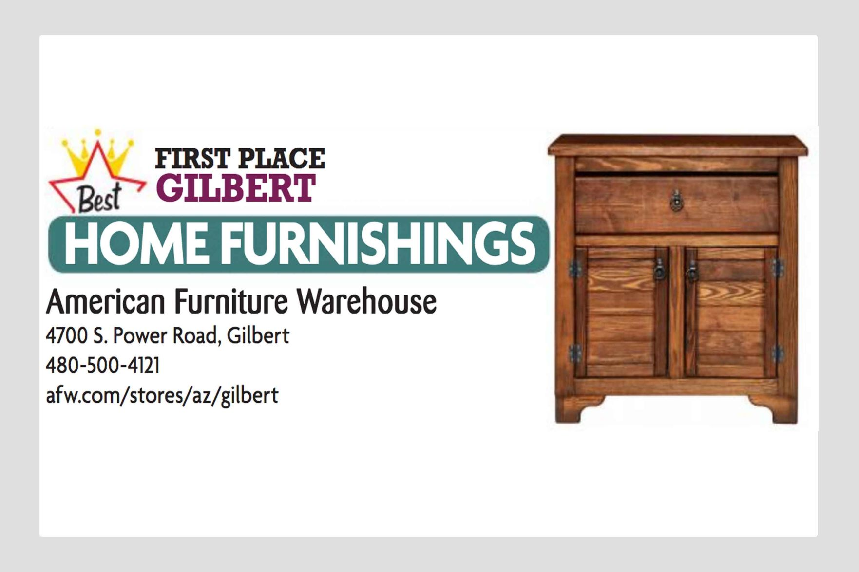 American Furniture Warehouse 4700 S Power Road Gilbert Business And Services Eastvalleytribune Com