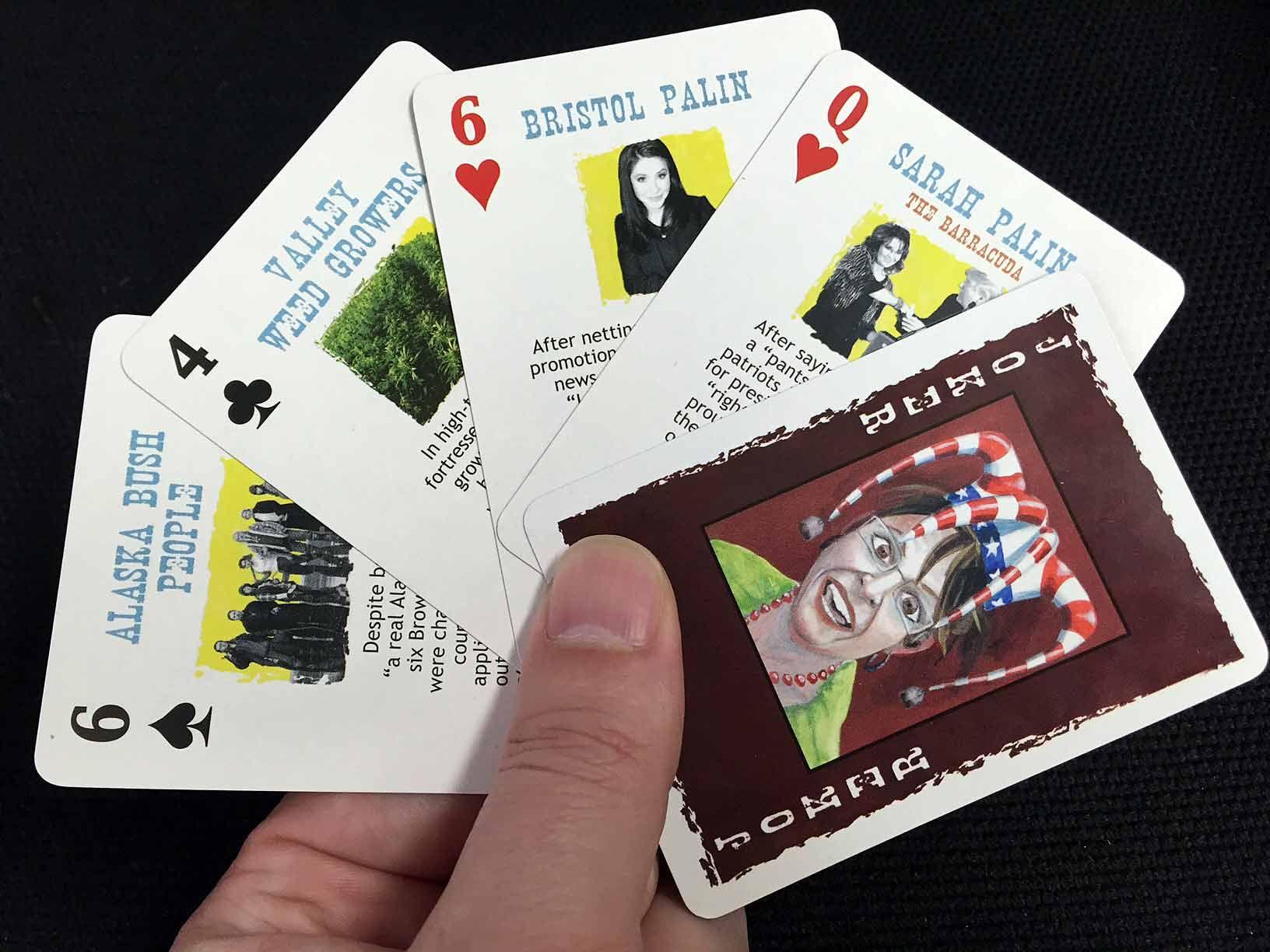 Manly Palin Playing Cards Palins Again Make Cut On Alaska Playing Cards Local News Make Playing Cards Reviews Make Playing Cards Online To Print cards Make Playing Cards