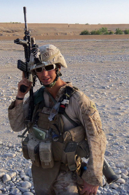 Corporal Nate Anderson Returns Home After Service in Marine Corps - marines infantry assaultman