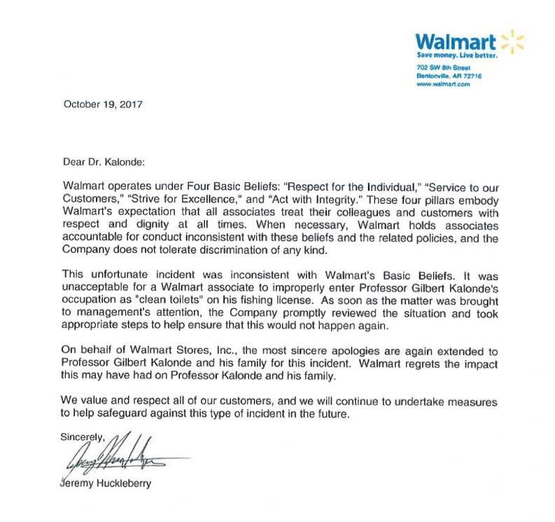 Walmart apologizes after listing \u0027clean toilets\u0027 as Montana State - apology letter to family