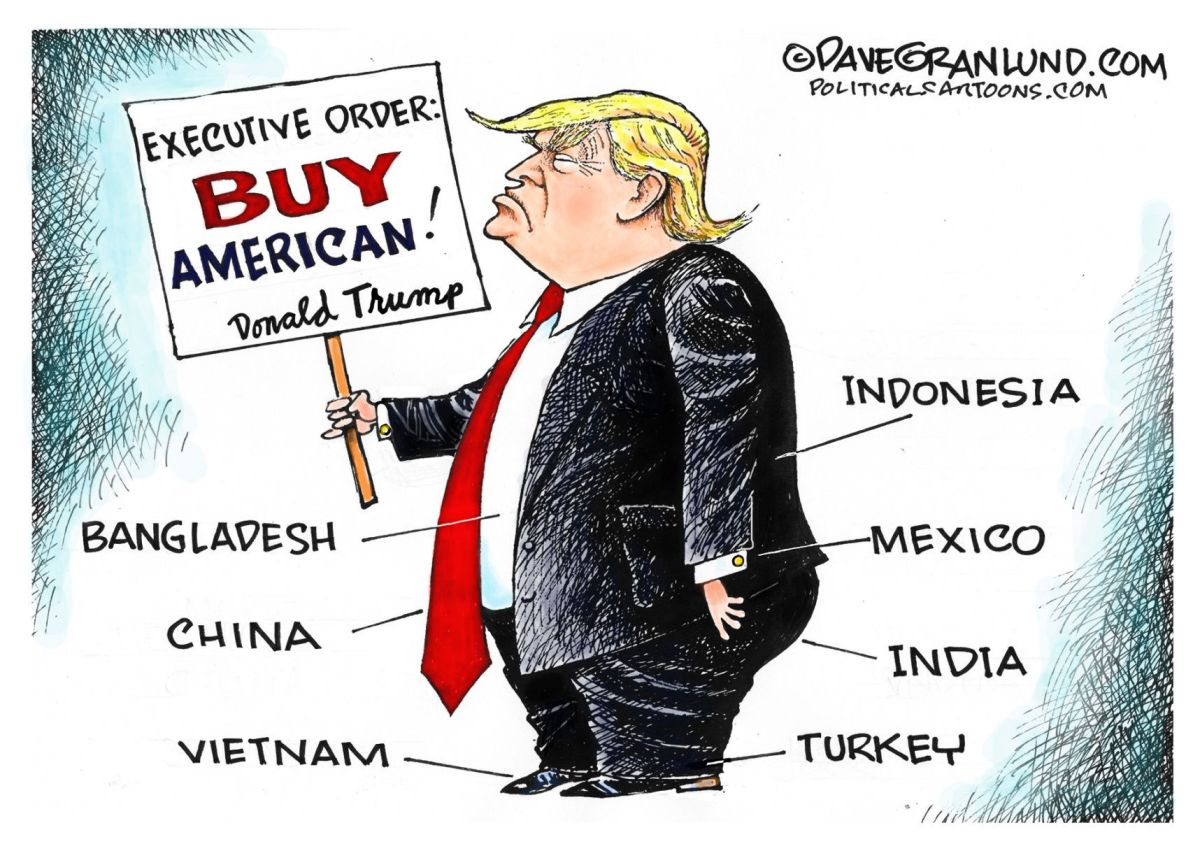 Uitleg Twitter Symbolen Trump Doesn 39t Buy American In Dave Granlund 39s Latest