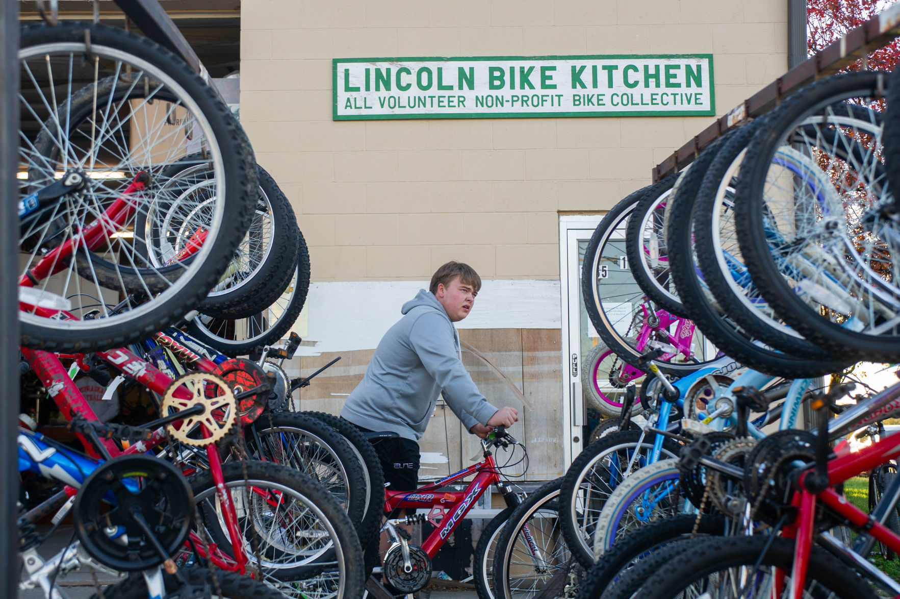 Garage Journal Bike Storage Wanted 150 Good Used Bicycles To Give To Lincoln Kids Families