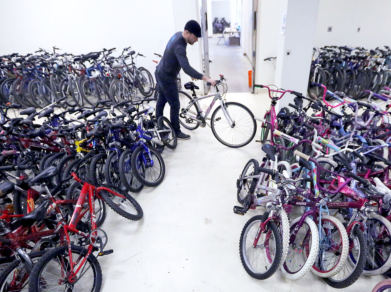 Garage Journal Bike Storage The Goal Giving 1 000 Bikes To Madison Area Kids For Free