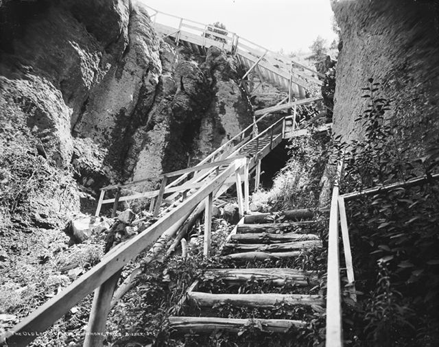 Hidden History The Log Stairs To The Bottom Of Shoshone
